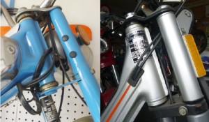 Left: External Bearings Right: Internal Bearings