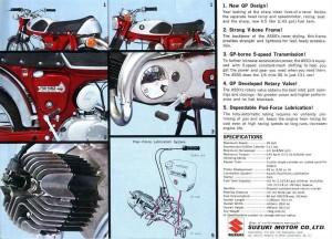 1969 Suzuki AS50 Ad says 95kph = 59 mph