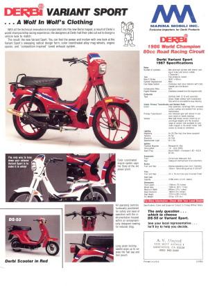 Derbi 1988 Variant Sport