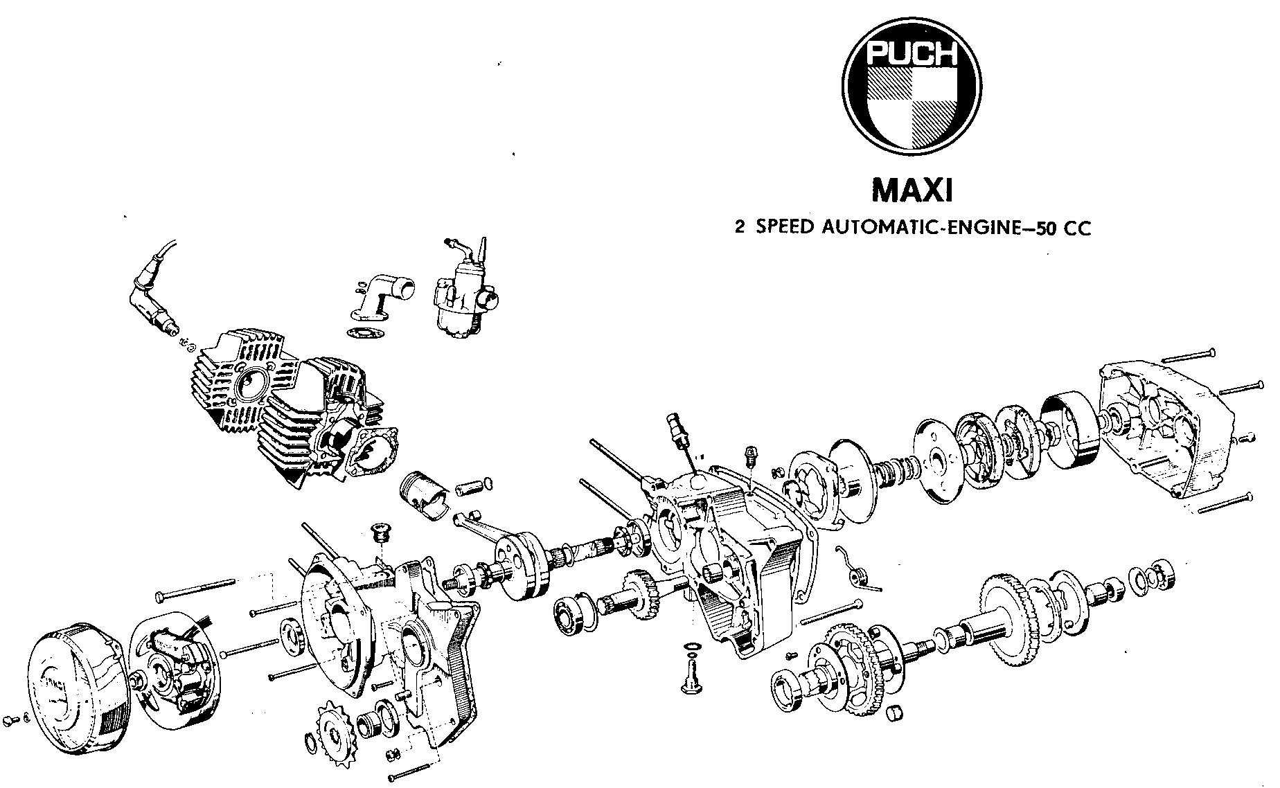 Puch Engine « Myrons Mopeds | Puch Engine Diagram |  | Myrons Mopeds
