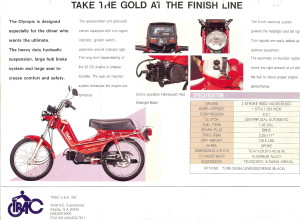 Info Trac Olympic Specs