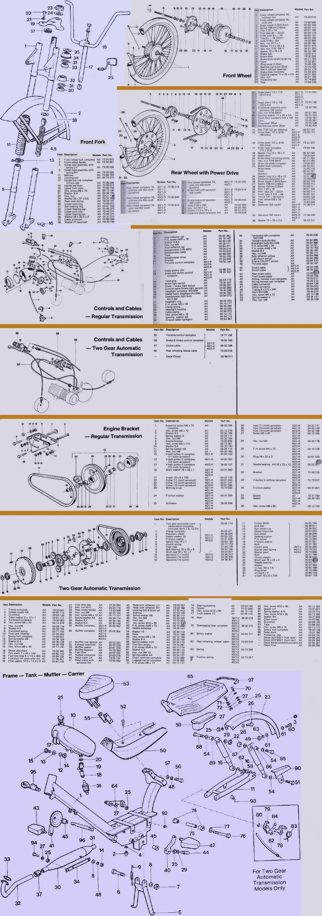 Odyssey Parts Manual, first edition, April 1977