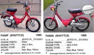 1985-86 Suzuki FA50 Shuttle