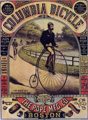 1886 Columbia Bicycle Ad