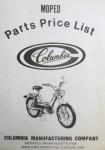 Columbia Parts Price List