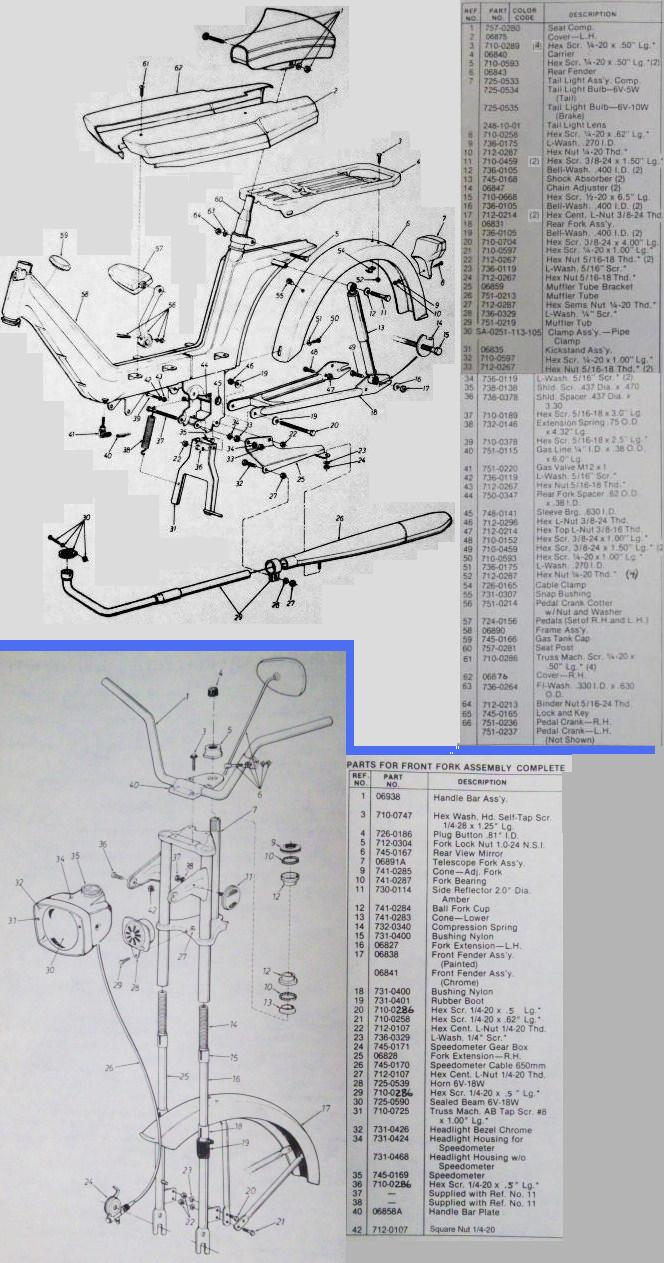 Columbia sheet metal frame Parts List non-engine