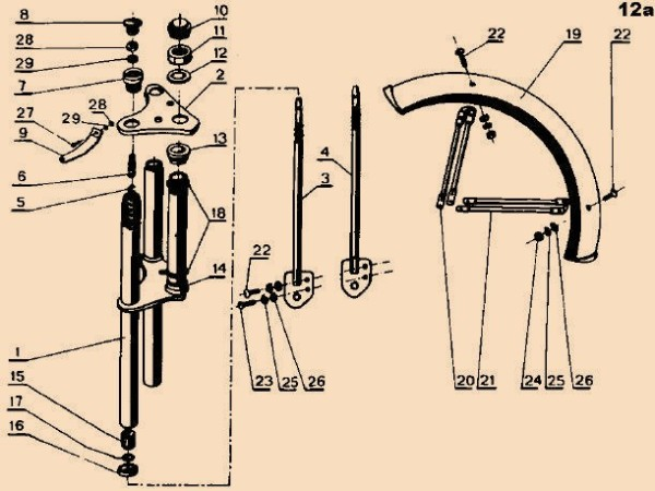 Jawa 207 Parts Diagram 12a