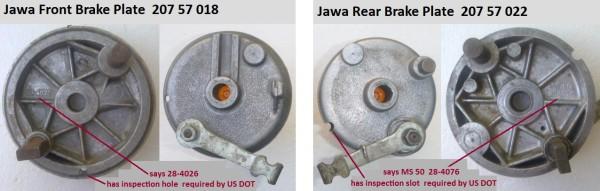 Jawa Brake Plates