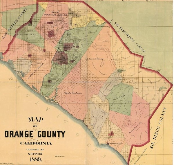 1889 (The First) Map of Orange County